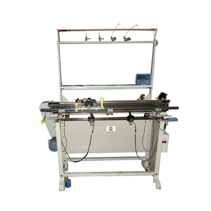 Semi-automatic flat bed knitting machine